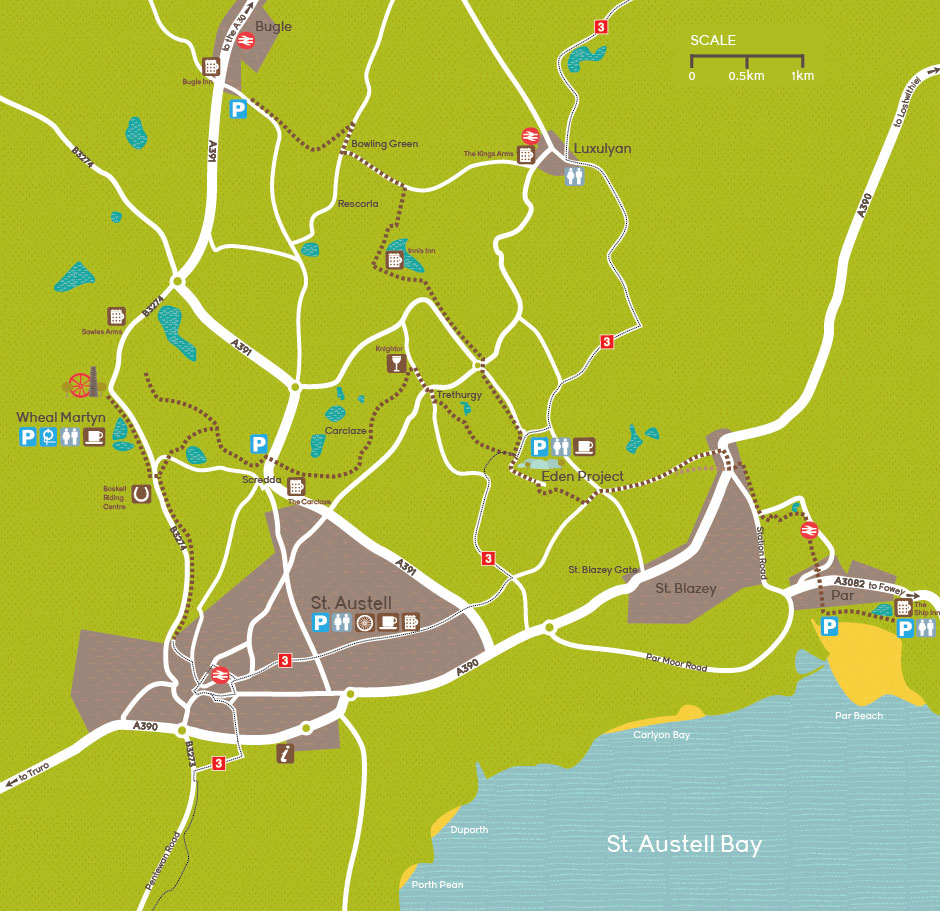 Map of the Clay Trails